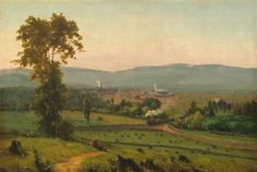 """Happy birthday to George Inness, born #onthisday (May 1) in 1825. Here's """"Lackawanna Valley,"""" painted by the artist in 1856. Natl Gallery of Art (@ngadc)   Twitter"""