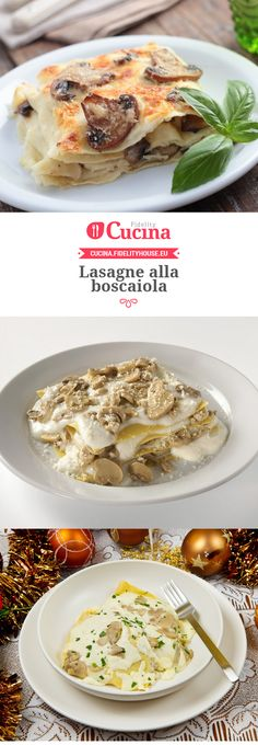 Lasagne alla boscaiola by sheryl Vegan Lasagna Recipe, Vegetarian Lasagne, Lasagne Recipes, Lasagne Soup, Chicken Lasagne, Ravioli, Crepes, Eat And Go, Italian Pastries