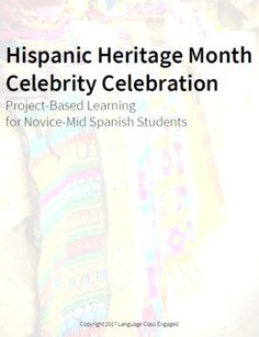 This Project-Based Learning unit introduces the concept of Hispanic Heritage Month using authentic cultural resources and student-driven discussion. It gives students an opportunity to demonstrate that they can utilize the target language to communicate basic facts and information about another Famous Hispanics, Hispanic Heritage Month, Teacher Lesson Plans, School Community, Spanish Teacher, Project Based Learning, Communication Skills, Student Work, Teaching Resources