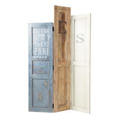 Biombo panel de madera reciclada - Doors
