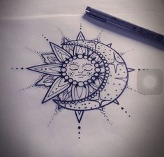 Bonus: Moon & Sun - 31 of the Prettiest Mandala Tattoos on Pinterest - Photos