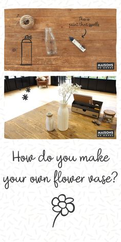 Find out how to turn a glass bottle into a flower friendly decor update! Dress up your spring blooms and create lots of different patterns on your DIY vase. Flower Vases, Flowers, Spring Blooms, Do It Yourself Home, Different Patterns, Diy Videos, Glass Bottles, Home Accessories, Creative