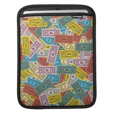 Vintage Monopoly Money iPad Sleeves