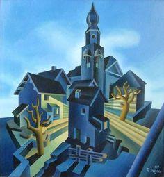 Fortunato Depero, Case alpestri, 1936