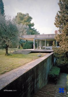 """114. Vittoriano Viganò /// Casa """"La Scala"""" for André Bloc /// Portese del Garda, Italy /// 1955-58 OfHouses guest curated by Andreas Lechner: """"Vittoriano Viganò is known, among others, for designing..."""