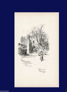 CATHERDRAL FROM THE POTTERGATE  by Herbert Railton, ART PRINT, Old, antique? #Donotknow