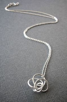 Petite Twist Love Knot Necklace