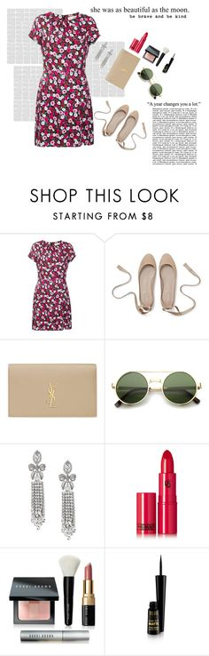 """She is my Moon"" by alinefer ❤ liked on Polyvore featuring Yves Saint Laurent, ZeroUV, Banana Republic, Lipstick Queen, Bobbi Brown Cosmetics and mark."