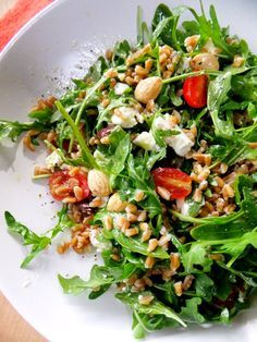 farro and arugula salad