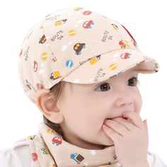 Baby Kid Boy Girl Kid Toddler Infant Hat Little Car Baseball Beret Cap