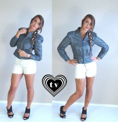 vtg 80s Gray LEATHER puff sleeve MOTORCYCLE by TigerlilyFrocks, $75.00