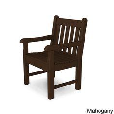 Rockford Garden Polywood Arm Chair (Mahogany), Brown, Patio Furniture (Plastic)