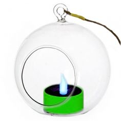 Solar Candle with Color-Changing LED in Hanging Glass Holder Candle Accessories, Solar Led, Glass Holders, Party Lights, Color Changing Led, Tree Lighting, Led Candles, String Lights, Color Change