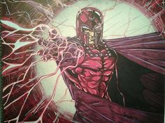 Magneto . Color done with Bic Markers