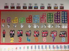 Numicon number display - include boxes at bottom for SS to add their own numbers of things Maths Eyfs, Eyfs Classroom, Kindergarten Math, Preschool Activities, Preschool Displays, Classroom Displays Eyfs, Eyfs Curriculum, Early Years Maths, Early Years Classroom