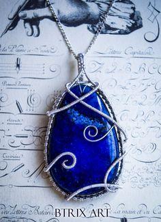 Judith pendant  Druzy Agate  Wire Jewellery di BtrixArt su Etsy