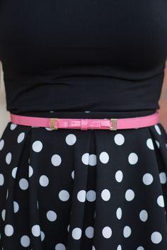 Dainty Bow Belt - Pink