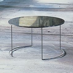 Mirror Mirror… | coco+kelley. This mercury glass round coffee table would be ideal.