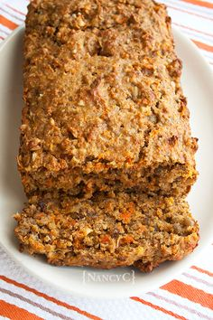 """I've never heard a quick bread being described as """"rustic,"""" but I think that's the perfect description for this Granola-Carrot Bread. It's a real down-to earth quick b… Granola Bread Recipe, Carrot Bread Recipe, Quick Bread Recipes, Bread Machine Recipes, Date Bread, Breakfast Cake, Breakfast Ideas, Breakfast Recipes, Baking And Pastry"""