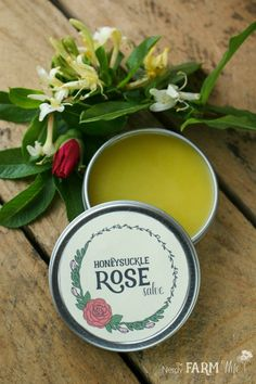 Honeysuckle Rose Salve Recipe