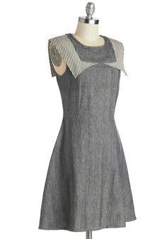 Schoolhouse Moxie Dress | Mod Retro Vintage Dresses | ModCloth.com ~~~~~~~ no sleeve fall dress? I think so