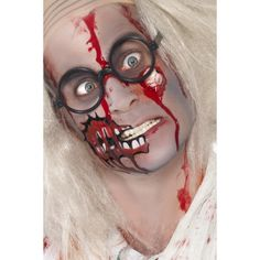 Zombie Make Up Set, Includes Latex Eyeball and Blood