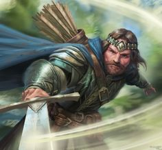 View an image titled 'Arathorn Art' in our Guardians of Middle-earth art gallery featuring official character designs, concept art, and promo pictures. Aragorn, Legolas And Tauriel, Tolkien Hobbit, Lotr, The Hobbit, Game Character Design, Character Art, Fantasy Warrior, Fantasy Art
