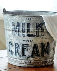 Upcycled Farmhouse Galvanized Bucket