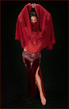 burgundy_veil by Sandra BellyDance, via Flickr