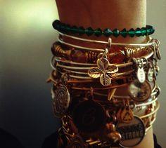 Lucky Clover 3D bangle! #CharmedArms #HappyStPatricksDay