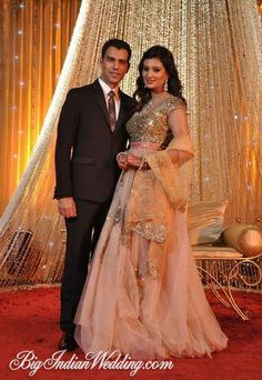 Former Miss India and actress Sayali Bhagat Wedding and Reception Pictures | Bigindianwedding.com