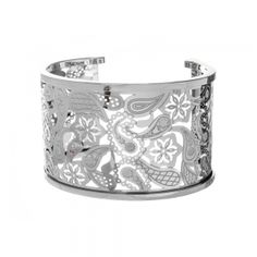 Heavy Silver Tone Swirl Pattern Cuff Bangle  Perfect for all occasions is this pretty cuff bangle. The bangle features a filigree swirl pattern throughout and has a solid heavy feel.  Your bangle is one size to suit most wrist sizes  £32.00  http://www.icejewellery.com/nataliewilkinson/1/