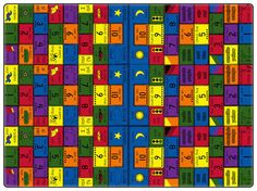 The original bilingual rug! Introduce Spanish to your learning center with this bilingual rug.