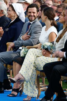 Swedish Royals Attend Victoria's Day at Borgholm on July 14, 2015 in Oland, Sweden.