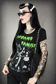 WOMEN'S, LADIES ADDAMS FAMILY T-SHIRT / GOMEZ, MORTICIA, LURCH / GOTH, HORROR in Clothing, Shoes & Accessories | eBay