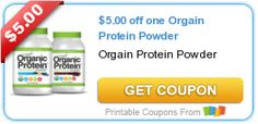 Organic Protein Powder $5 Off Coupons Plus over $80 in savings