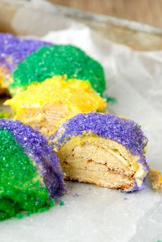 One doesn't have to travel to New Orleans to partake in the 'Fat Tuesday' celebrations! This gluten-free King Cake recipe for Mardi Gras uses a gluten-free bread mix as a base for a sweet, filled King Cake made in your own kitchen! There are many versions of miniature plastic babies which can be inserted into...