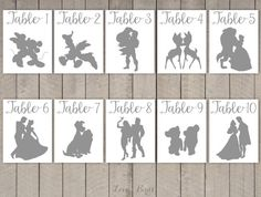 Disney Couple Cards Silhouette Calligraphy by SophiesLoveBirds
