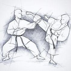 Kumite: Angriff Yoko gueri jodan, Abwehr Shuto- Uke in Kokutsu dachi. Best Martial Arts, Martial Arts Styles, Martial Arts Techniques, Martial Arts Workout, Aikido, Taekwondo, Kung Fu, Karate Kumite, Karate Shotokan
