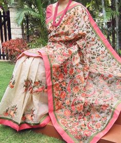 Beautiful Supernet Saree with embroidery