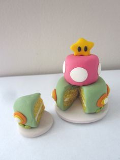 #Mario Inspired Miniature Cake by houseofirisgs on Etsy, $25.00 OMG adorable!!!! the colors are so great!