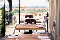 I tavoli e la vista mare. #nostranopesaro #tavoli #restaurant #sea