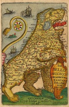cvlangdon: Holland after the Eighty Years War (1568-1648) Not just Holland (the tiny northwest part of this map) Title of the map speaks another language!