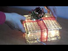 How to make a decorative glass block - YouTube
