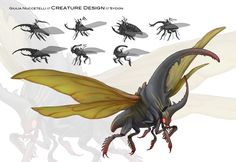 """This is a concept did for a school project, they give to us a simple description of all creatures, characters, enviroment etc.. and then we draw everything. Here the description was: """"Enormous crea..."""
