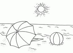 Beach Coloring Pages Idea - Free Coloring Sheets Summer Coloring Sheets, Beach Coloring Pages, Free Coloring Sheets, Cool Coloring Pages, Animal Coloring Pages, Coloring Pages To Print, Printable Coloring Pages, Coloring Pages For Kids, Coloring Books