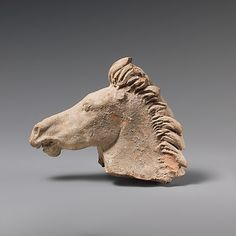 Terracotta horse's head,hellenistic,3rd century BC Greek