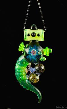 "ID Glass ""Alien Amulet"" Pendant $ 265"