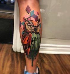 Owl tattoo by Spendlo Tattoo