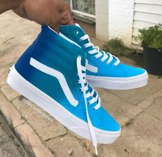 Blue Vans Custom Sneaker - - Source by georgvarney Shoes Wedge Shoes, Women's Shoes, Me Too Shoes, Shoe Boots, Cool Vans Shoes, Blue Vans Shoes, Vans Boots, Vans Tennis Shoes, Vans Sneakers